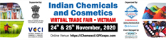 CHEMEXCIL organizing Indian Chemicals and Cosmetics Virtual Trade Exhibition, VIETNAM on 24th & 25th November, 2020
